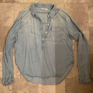 Abercrombie Jean Half Button Down